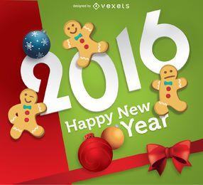 2016 Año Nuevo Gingerbread