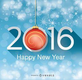 Hintergrund des neuen Jahres 2016