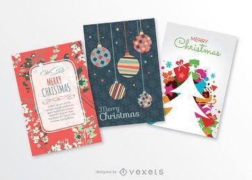 3 cartões postais de Natal