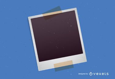 Moldura Polaroid com fita adesiva