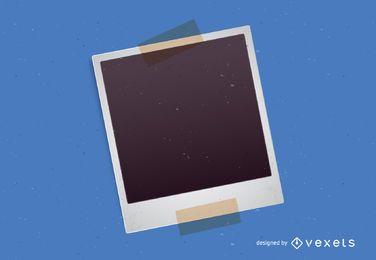 Polaroidrahmen mit Klebeband