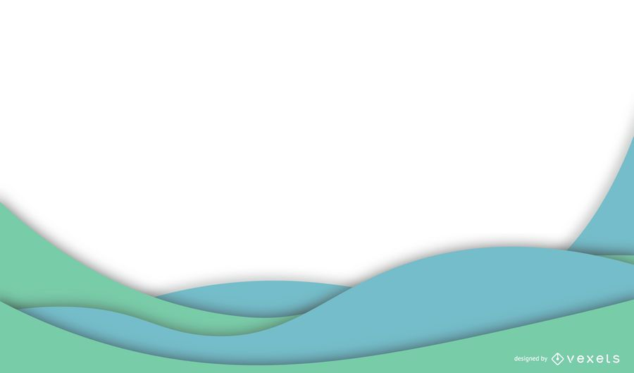 Blue Green Waves Business Background