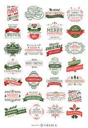 28 Weihnachtsabzeichen
