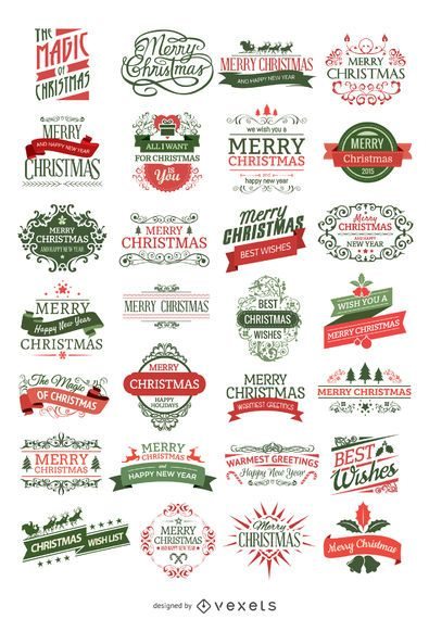28 Christmas badges