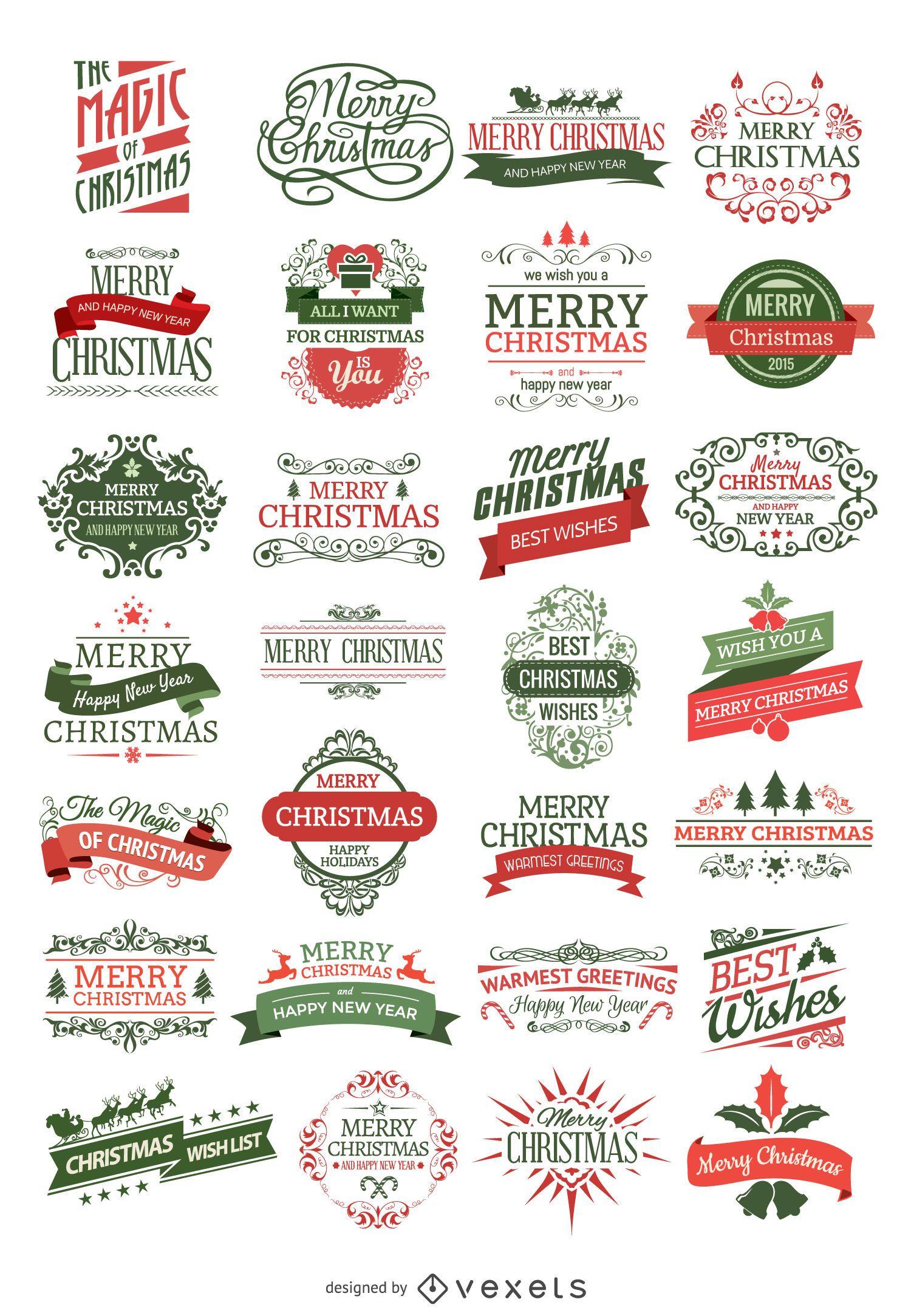 28 insignias de Navidad