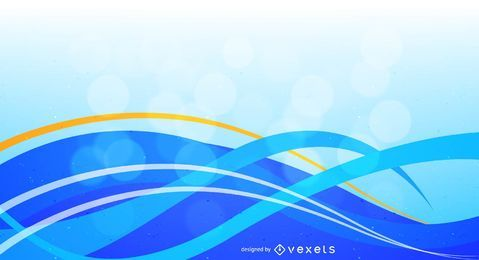 Blue White Waves Background