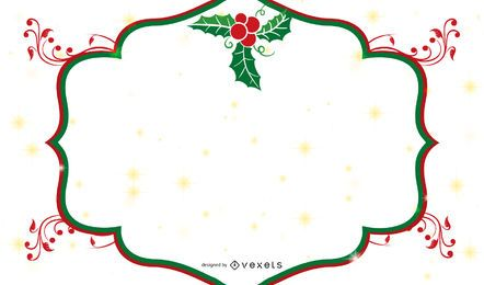 Bandera de Navidad con Marco de Muérdago