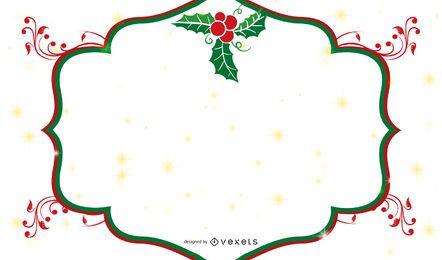 Banner de Natal de quadro de visco