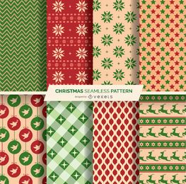8 patrones seamles navideños.