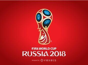 Cartaz do logotipo de Rússia 2018