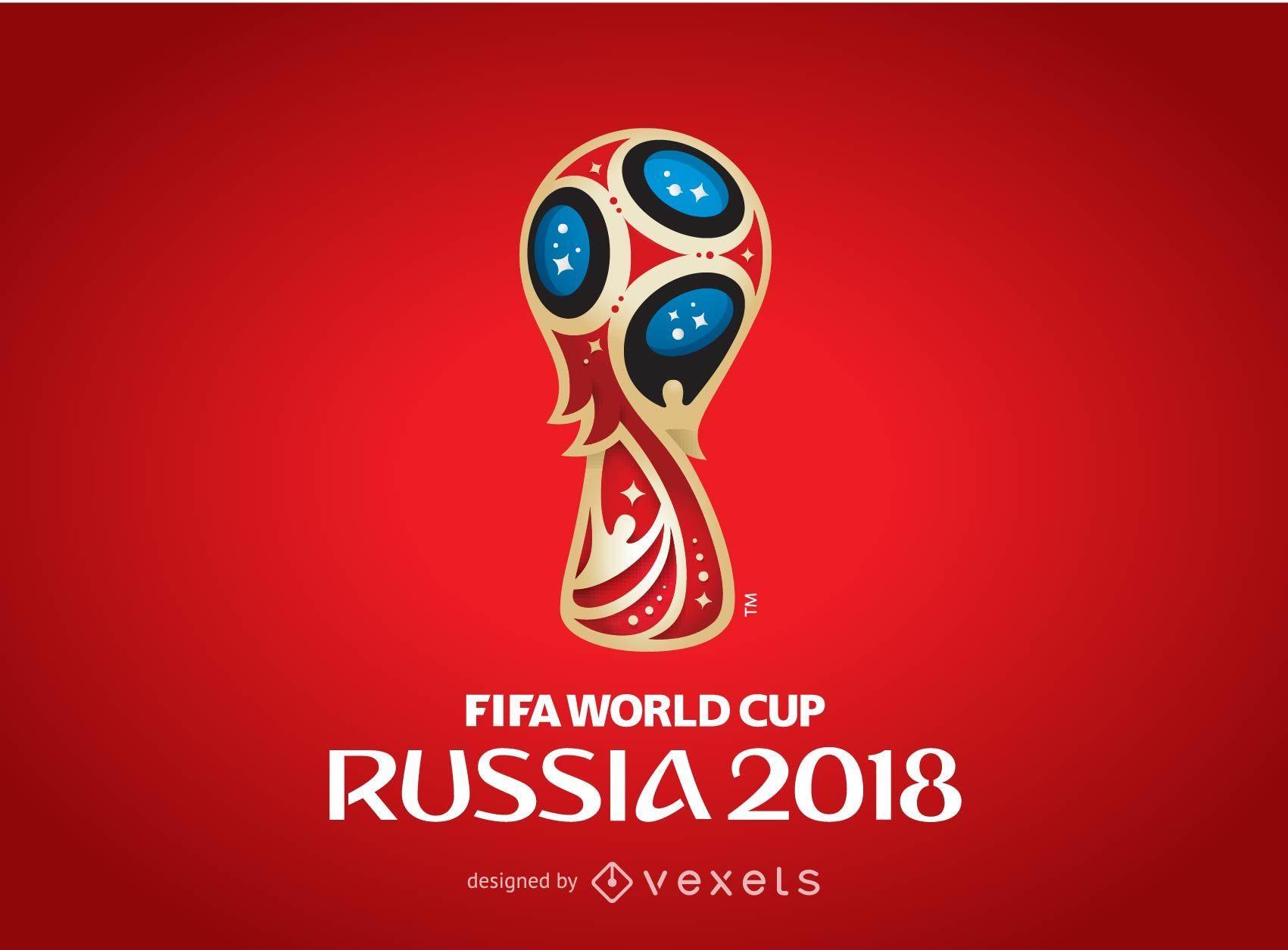 Russland 2018 Logo Poster