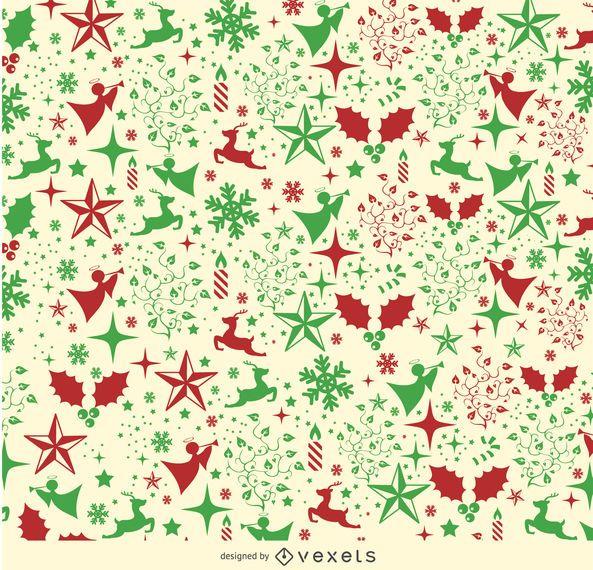 Weihnachtselemente Hintergrund