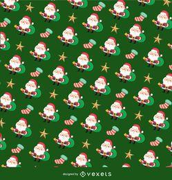 Textura de navidad santa claus
