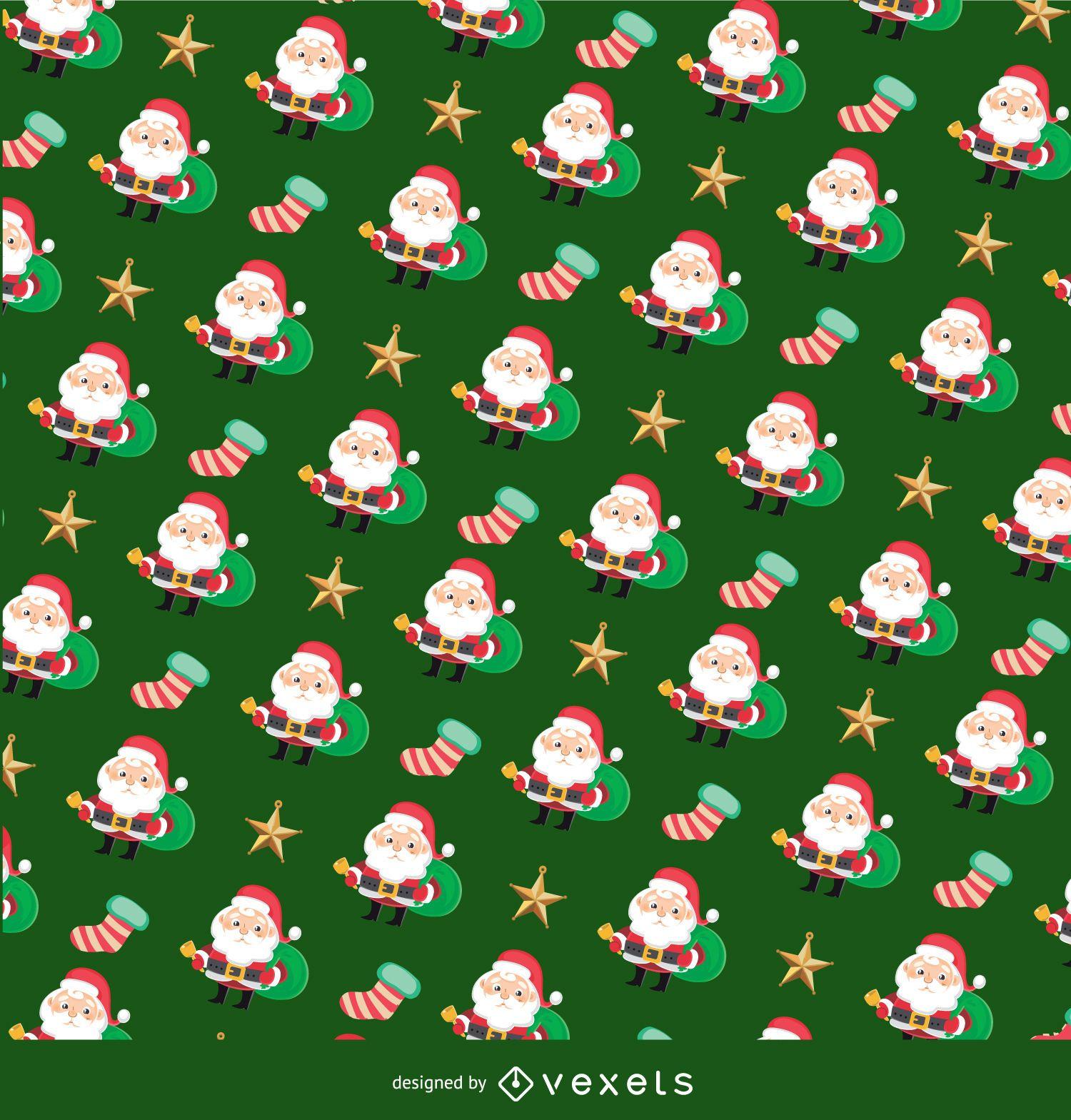 Christmas Texture.Christmas Santa Claus Texture Vector Download