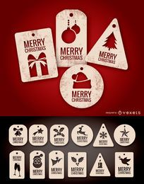 Tag e etiquetas de Natal