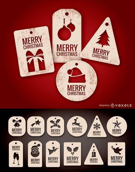 Etiquetas y etiquetas navideñas