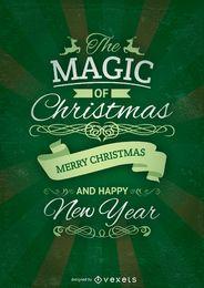 Tarjeta verde de navidad