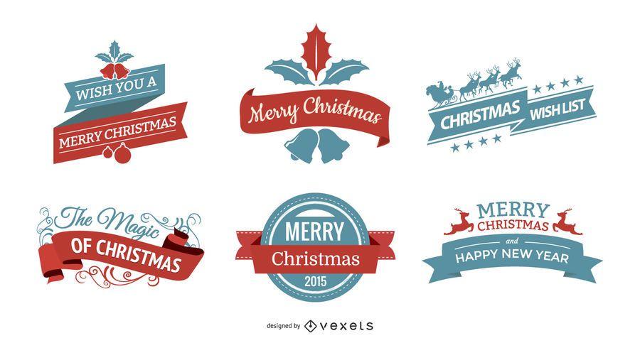 Vintage Christmas Label Set