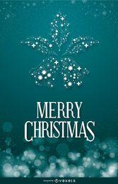 Weihnachtsfahne mit shinning Glocken