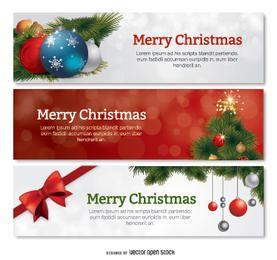Set of 3 Christmas banners