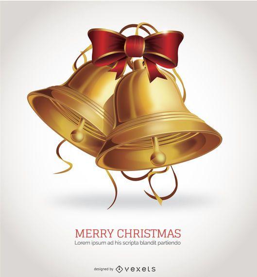 Isolated Christmas Bells