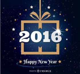 Design de presente de ano novo 2016