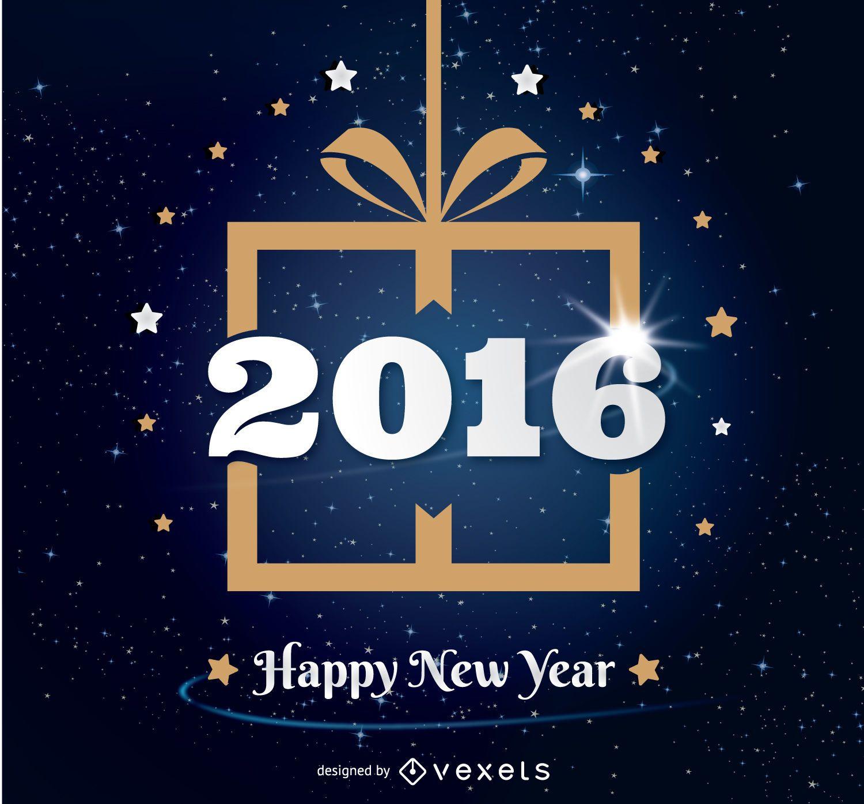 Diseño de regalo de año nuevo 2016