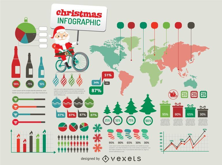 Christmas Infographic elements