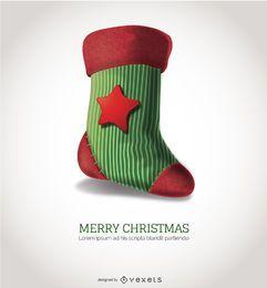 Sehr detaillierte Weihnachtssocke