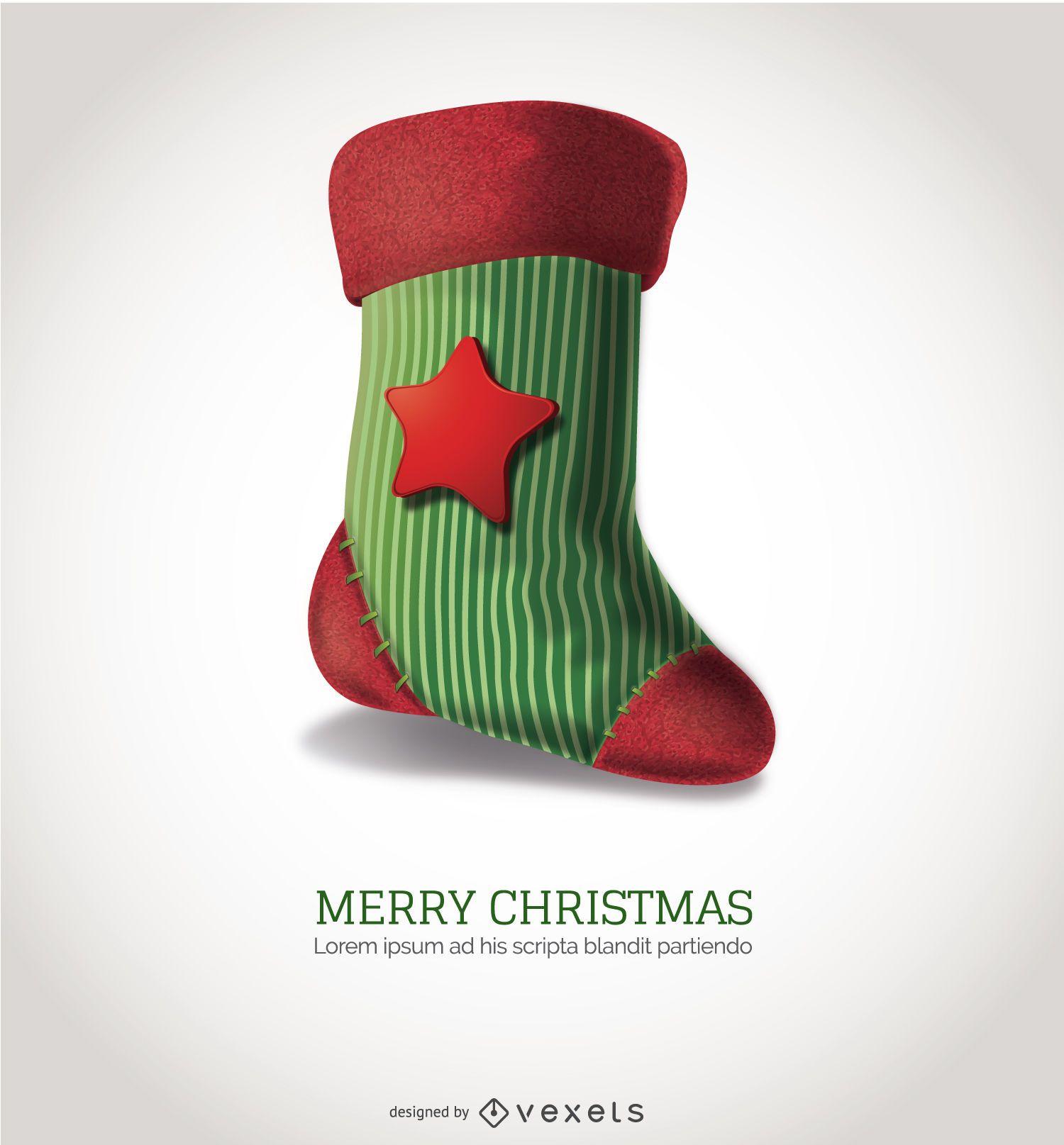 Highly detailed Christmas sock