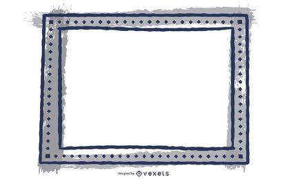 Verzerrter Grungy Black Square Frame