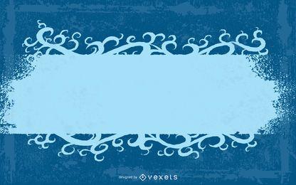 Grungy Blue Halftones wirbelnde Fahne