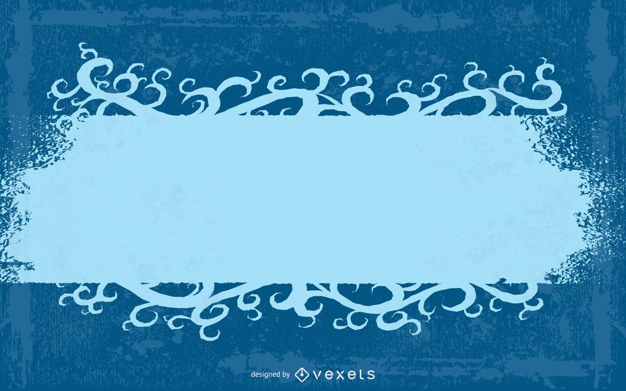 Grungy Blue Halftones Swirling Banner