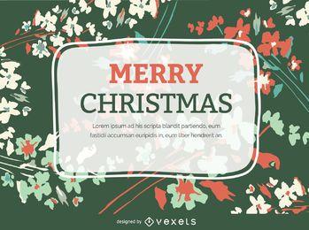 Cartão do Flourish do Natal