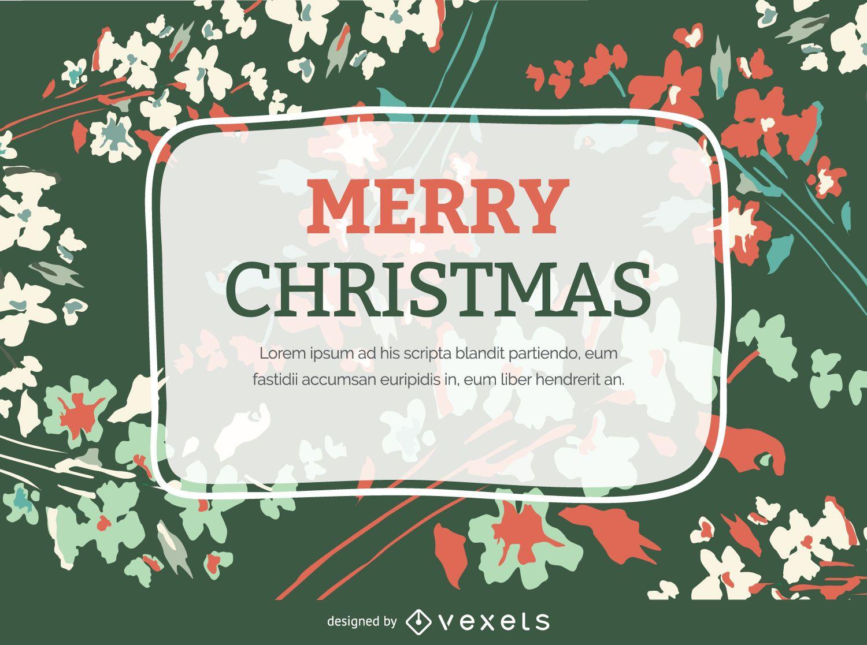 Christmas Flourish postcard