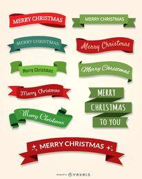 10 Frohe Weihnachten Bandsatz