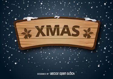 placa de madeira de natal