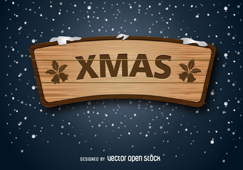 letrero de madera de navidad