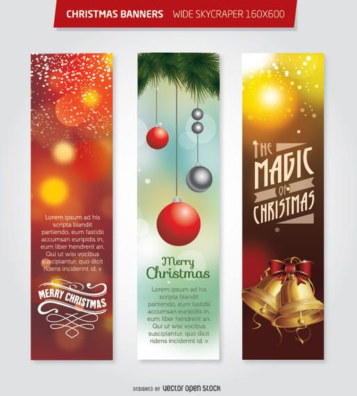 Christmas 160x600 Wide Skycraper banners