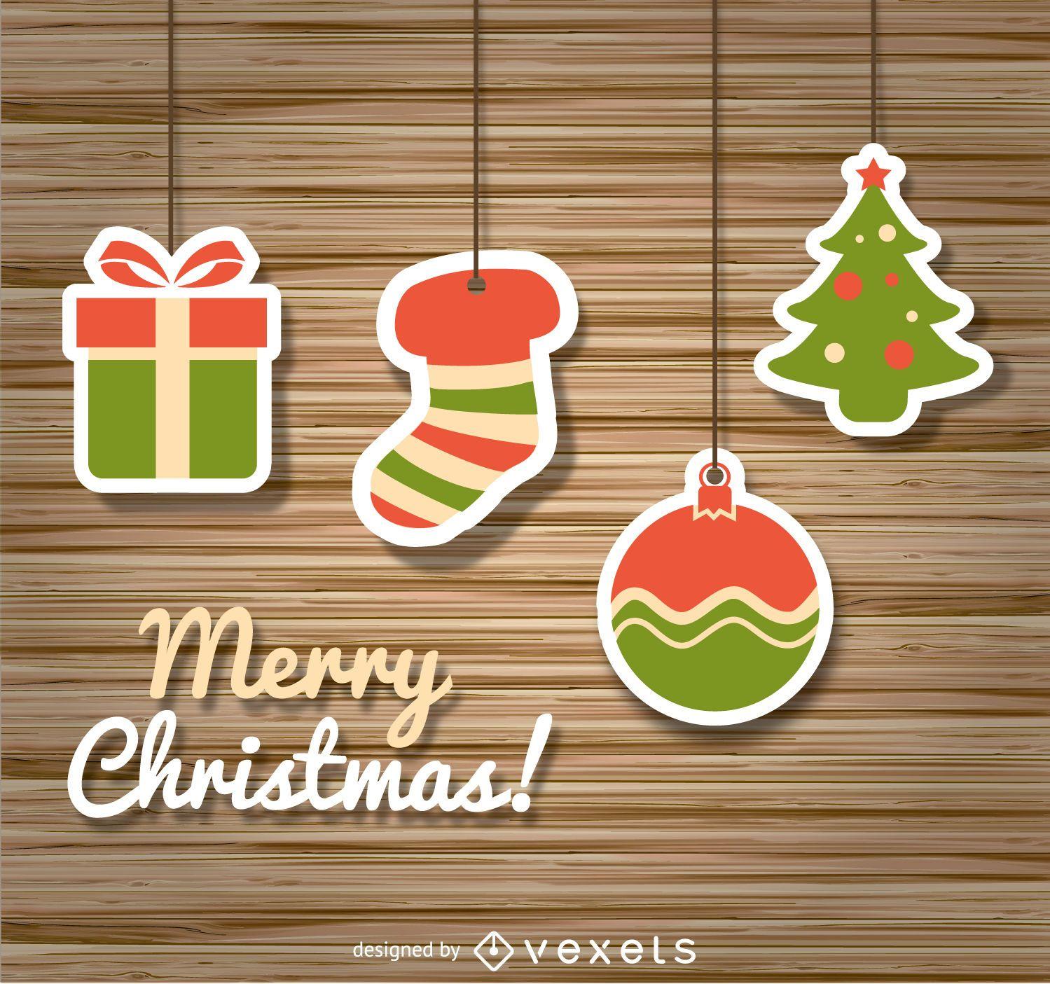 Iconos de Navidad sobre madera