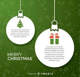 Diseño de papel de bolas de navidad