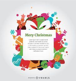 Weihnachtsbunter Entwurf
