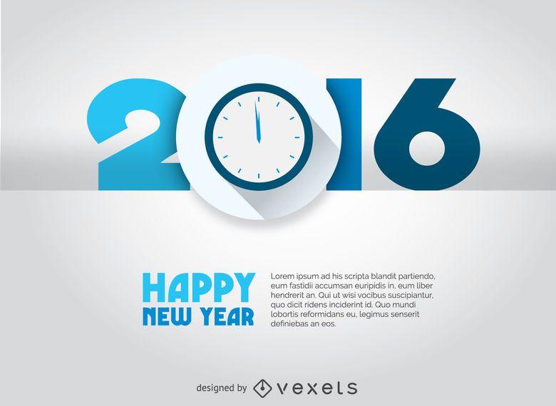 2016 countdown concept