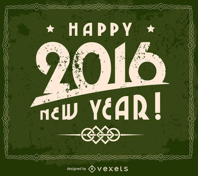 Grunge 2016 happy new year design