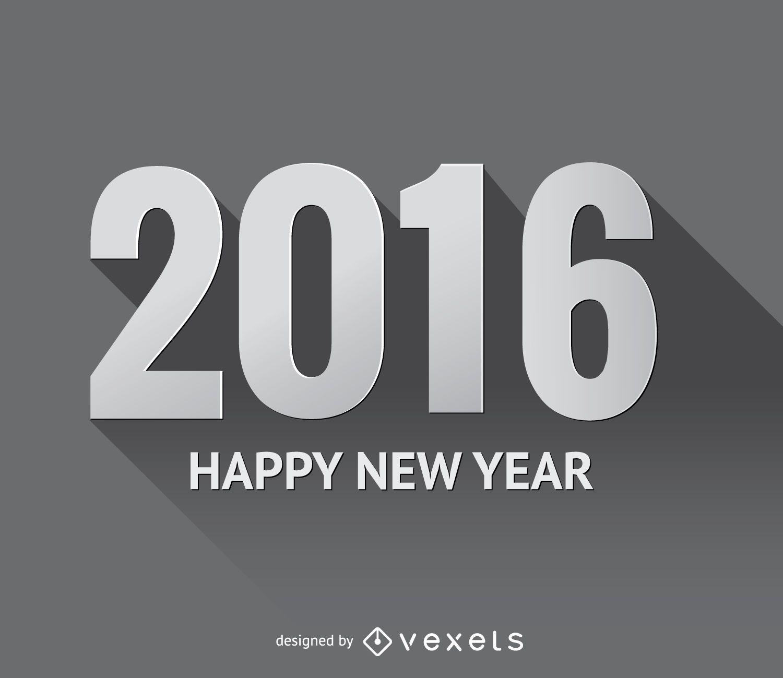 2016 grey drop shadow numbers