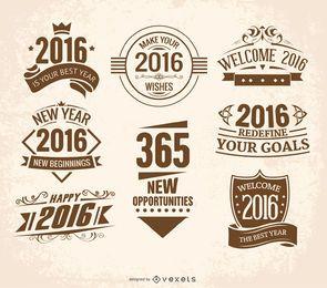 Emblemas de ano novo de 2016