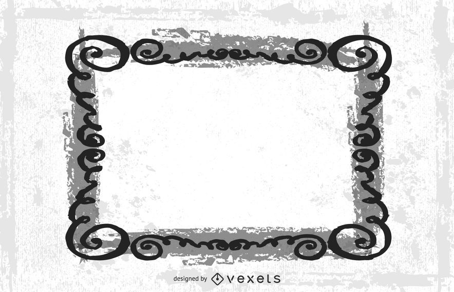 Swirling Frame Grungy Wide Banner