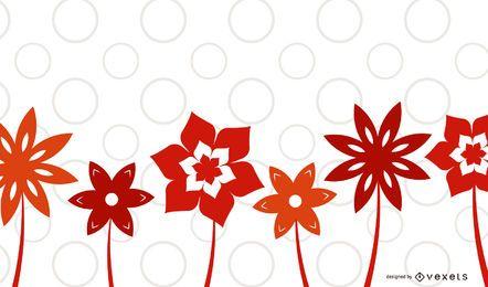 Fundo de plantas de flor vermelha