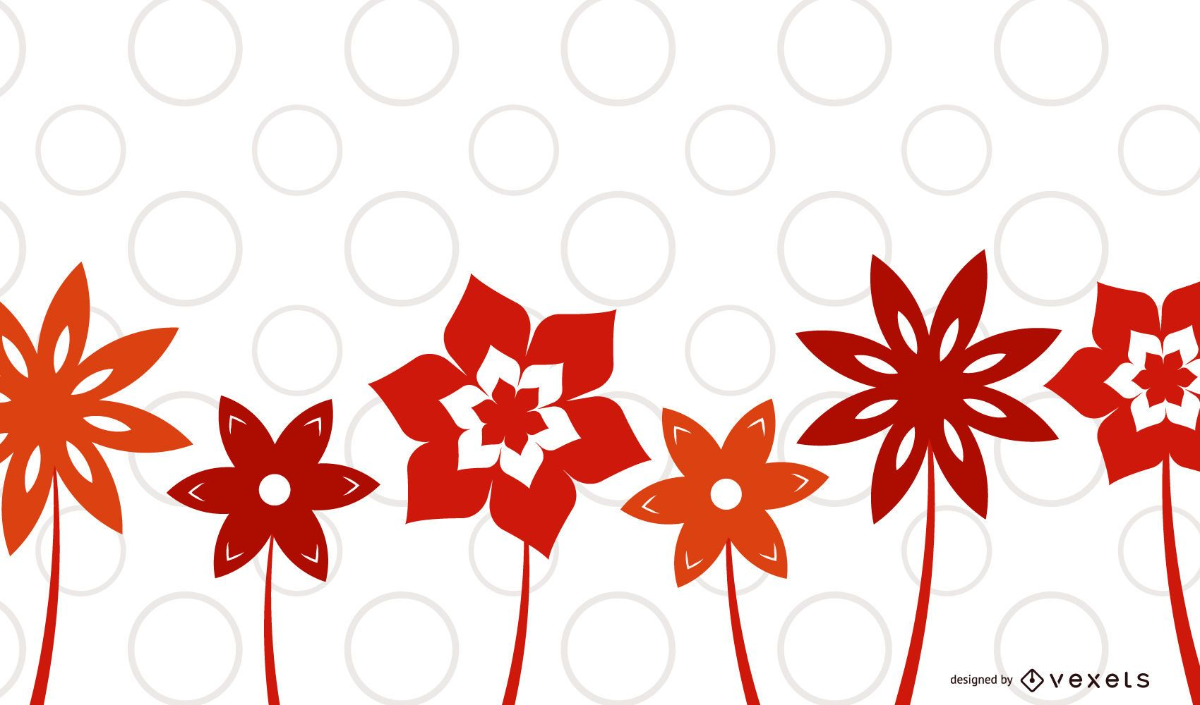 Red Flower Plants Background
