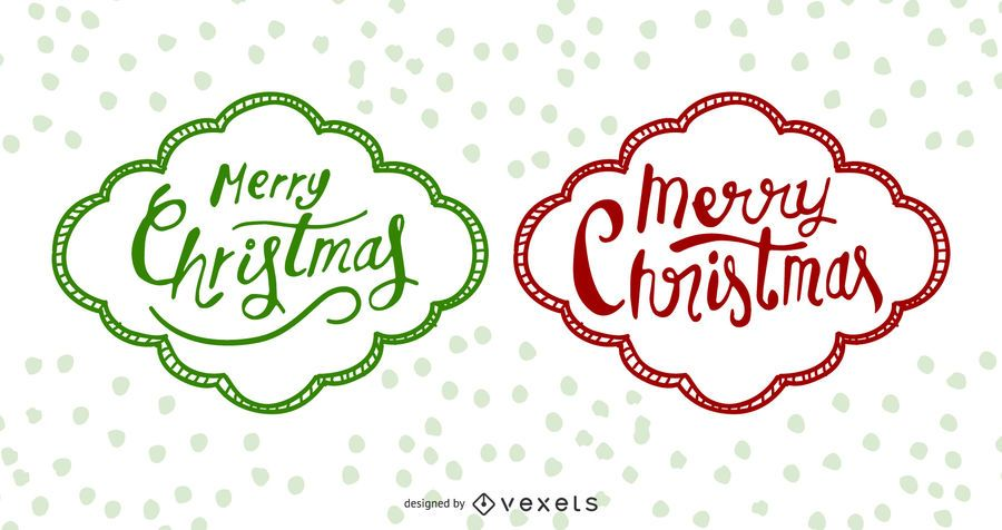 Funky Hand Drawn Christmas Labels